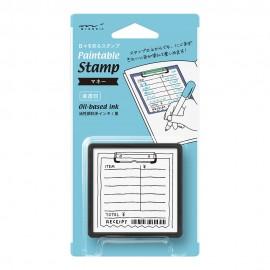 Pieczątka z tuszem Midori Paintable Stamp Rachunek