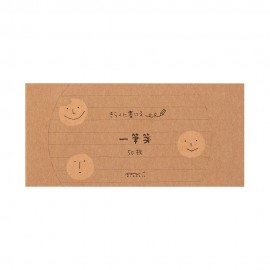 Midori Message Letter Pad Easygoing Cookie