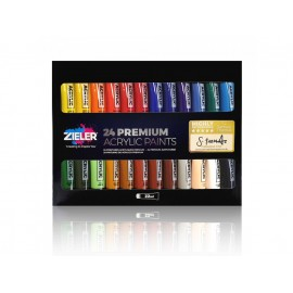 Farby Akrylowe Zieler Premium Acrylic Paints 24 kolory