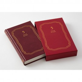 Midori 5 Years Diary Recycled Leather Red