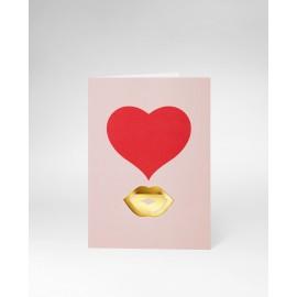 OCTAEVO Greeting Card Kiss