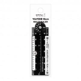 Midori Plastic Multi Ruler 16 cm