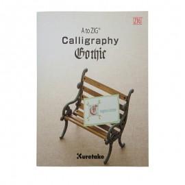 Kuretake książeczka do kaligrafii Zig Calligraphy Gothic Book