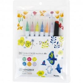 Zestaw Brush Penów Kuretake Zig Clean Color Real Brush Naura