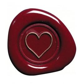 J. Herbin Brass Seal Heart