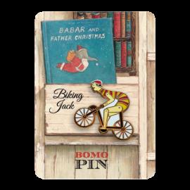 Bomo Art Pin Biking Jack
