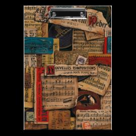 Bomo Art Clipboard Music Notes