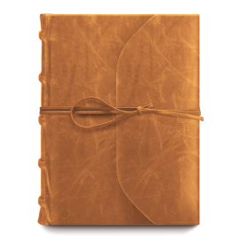 Bomo Art Full Leather Bound with Tie Journal Cognac