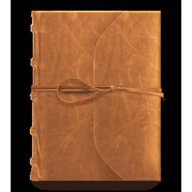 Notatnik Bomo Art Full Leather Bound with Tie Journal Cognac
