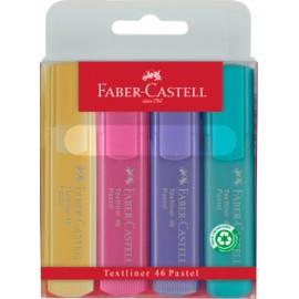Zakreślacze Faber-Castell Pastel 4 sztuki