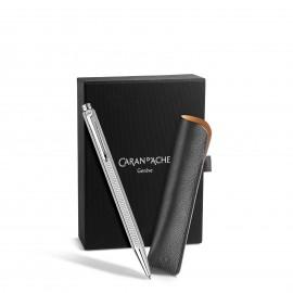 Caran D'Ache Ecridor Hypnose Gift Set Ballpoint Pen & Leather Pen Case
