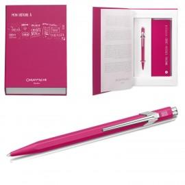 Zestaw upominkowy Długopis Caran D'Ache 849 + Notatnik Różowy