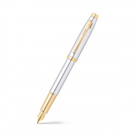 Sheaffer 100 Chrome with Gold Tone Fountain Pen