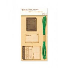 Midori PCM Wood Tag Card Book
