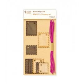 Etykietki prezentowe Midori PCM Wood Tag Card Znaczki