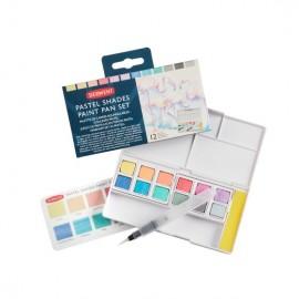 Derwent Pastel Shades Paint Pan Set 14 Colours
