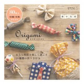 Midori Blok Papieru Origami Kraft 80 arkuszy