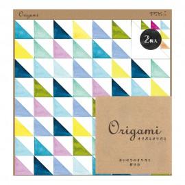 Midori Papier Origami Kolorowe Trójkąty 20 arkuszy