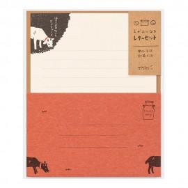 Midori Letter Set Smile Goat