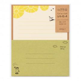 Midori Letter Set Smile Sun