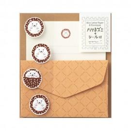 Letter Set 309 with Sticker Hedgehog