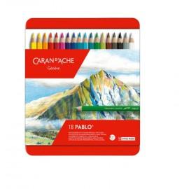Caran d'Ache Pablo Coloured Pencils 18 pieces