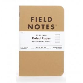 Notesy Field Notes Original Kraft 3 szt. w linie