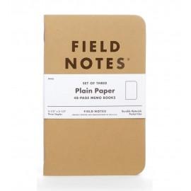Notesy Field Notes Original Kraft 3 szt. gładkie
