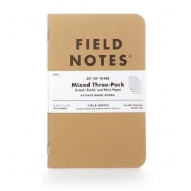 Notesy Field Notes Original Kraft 3 szt. Mix