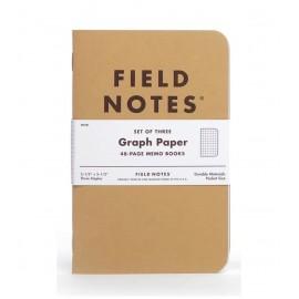 Field Notes Original Kraft Graph 3-Packs