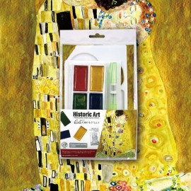 "Zestaw do malowania Kuretake Gansai Tambi Historic Art: Gustav Klimt ""Pocałunek"""