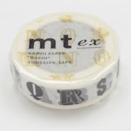 Taśma MT Ex 15 mm Alfabet czarny