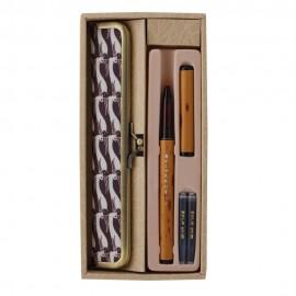 Brush Pen do kaligrafii Akashiya Kyoto Belt Pen Kot z piórnikiem