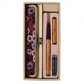 Brush Pen Akashiya Kyoto Belt Pen Camelia with Pen Case