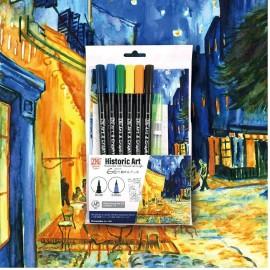 "Kuretake Zig Art and Graphic Twin Set Historic Art: Vincent van Gogh ""Café Terrace at Night"""