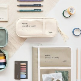 ICONIC Cottony Grand Pen Pouch Ivory