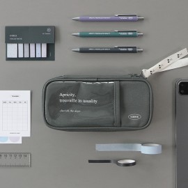 ICONIC Cottony Grand Pen Pouch Charcoal