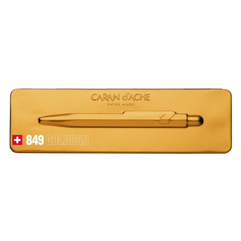 Caran D'Ache Ballpoint pen 849 Goldbar