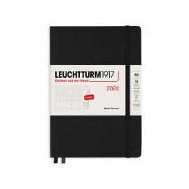 Kalendarz Leuchtturm1917 Tygodniowy Wertykalny 2022 Czarny (A5)
