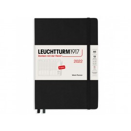 Lauchtturm1917 Weekly Planner 2022 Black (A5)