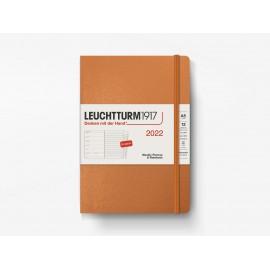 Kalendarz Leuchtturm1917 Tygodniowy + Notatnik 2022 Metaliczny Miedziany (A5)