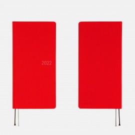 Kalendarz Hobonichi Weeks 2022 Colors: Bright Red