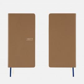 Hobonichi 2022 Weeks Leather: Cinnamon Beige