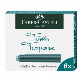 Faber-Castell Ink Cartridges Turquoise 6 pieces