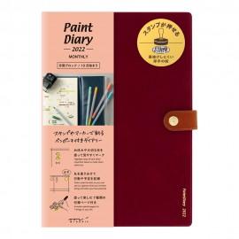 Kalendarz Midori Paint Diary 2022 Czerwony