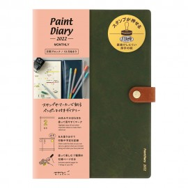 Kalendarz Midori Paint Diary 2022 Khaki