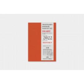 Traveler's Noteboook Passport Size 2022 Monthly Refill