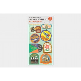 Customized Sticker Set for Traveler's Notebook Diary 2022