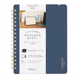Midori +Stand Diary (B6) 2022 Navy
