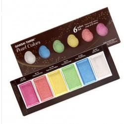 Farby akwarelowe Kuretake Gansai Tambi Pearl Colors  6 sztuk